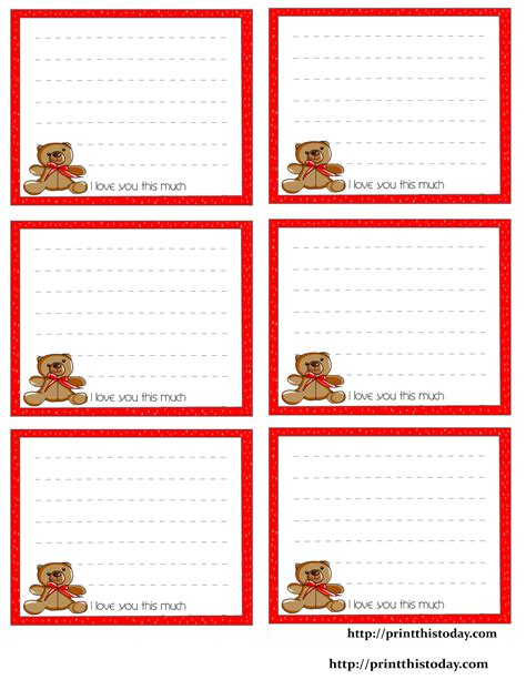 printable stationery coupons free printable love notes stationery