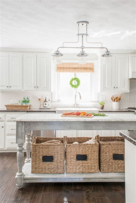 Farmhouse Kitchen Island Eclectic Home Tour Hendrick