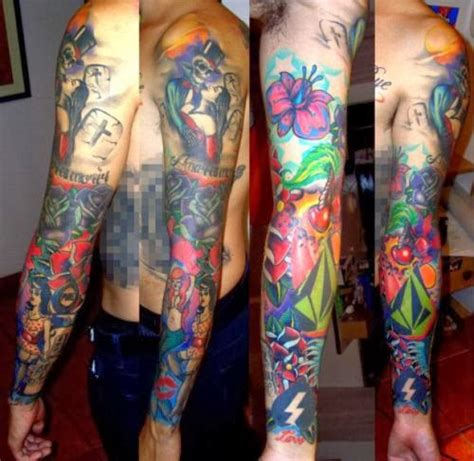 colorful tattoo sleeve designs november 2013 tatto style