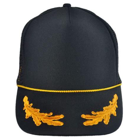 otto gold leaves mesh trucker snapback baseball cap