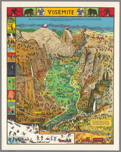 map of yosemite national park behold a glorious vintage map of yosemite national park