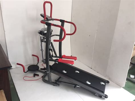 Treadmill Manual 6 Fungsi Merah Fit alat fitness stepper treadmill manual 6 fungsi penghancur