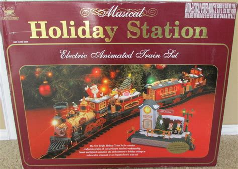 new in box large musical holiday station electric animated