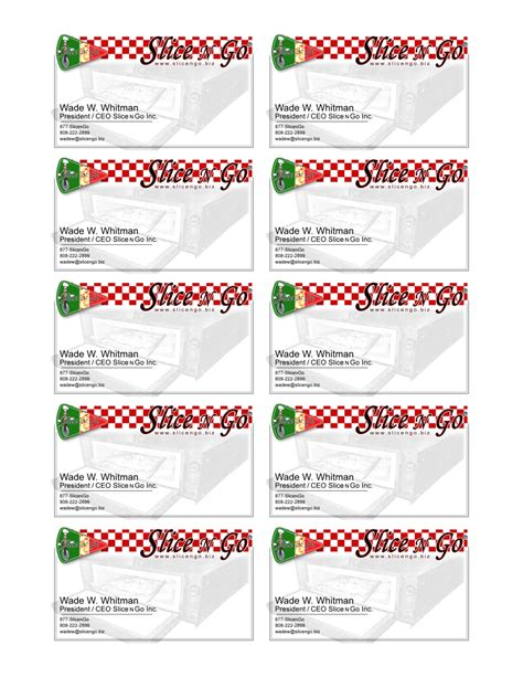 Avery Template 8371 Illustrator Card Label Template
