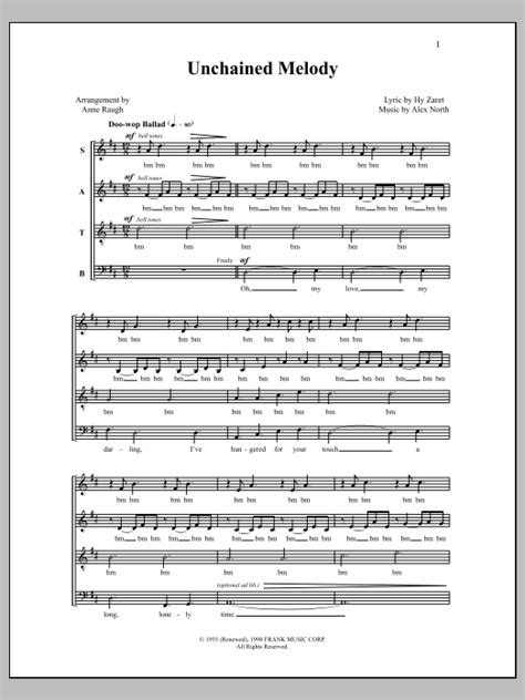 printable lyrics to unchained melody unchained melody sheet music at stanton s sheet music