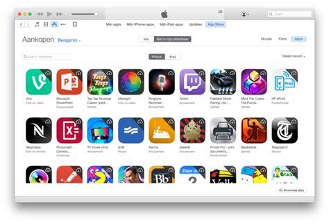 Application De Apps Verwijderen Uit Aankopen Overzicht In De App Store