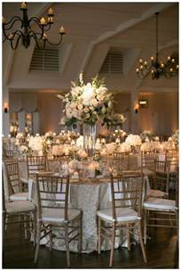 How To Make Fan Wedding Programs Gold Ivory And White Wedding Reception Decor With White Florals In Glass Vessels Place