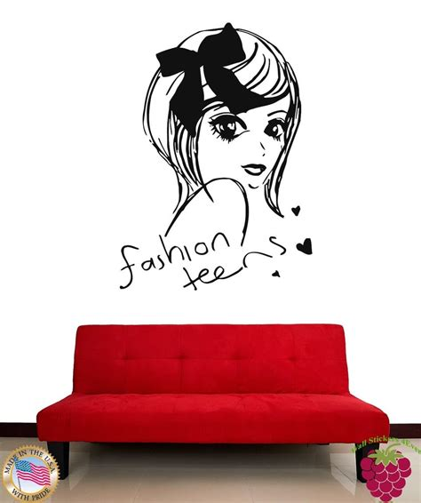 wall stickers teenage bedrooms wall stickers vinyl decal fashion teens cute girl decor