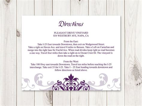 Direction Card Template Microsoft Word by 32 Best Wedding Invitation Templates Quot Ironwork