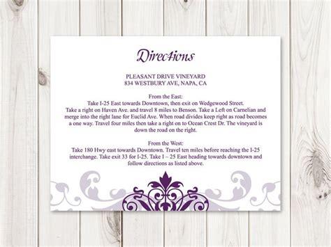 direction card template microsoft word 32 best wedding invitation templates quot ironwork