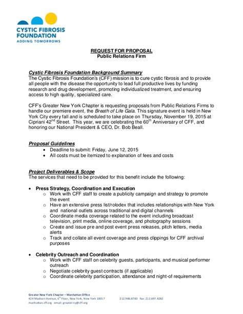 pr rfp template cystic fibrosis foundation request for