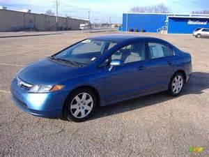 2008 atomic blue metallic honda civic lx sedan 23386978
