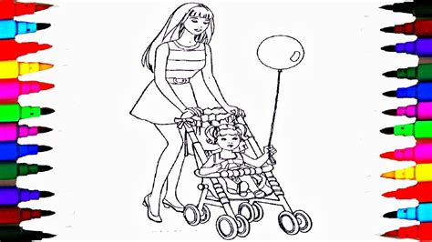 chelsea barbie coloring page coloring pages barbie and chelsea in the stroller coloring