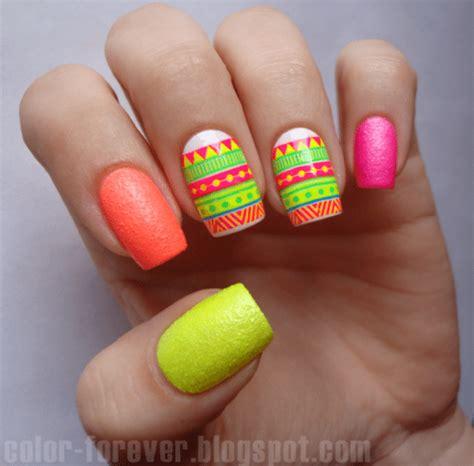 neon pattern nails 25 cute eye catching neon nail arts be modish