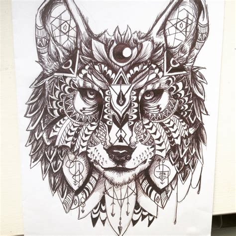 amazing wolf tattoo designs geometric wolf design by maddiecadecade on deviantart