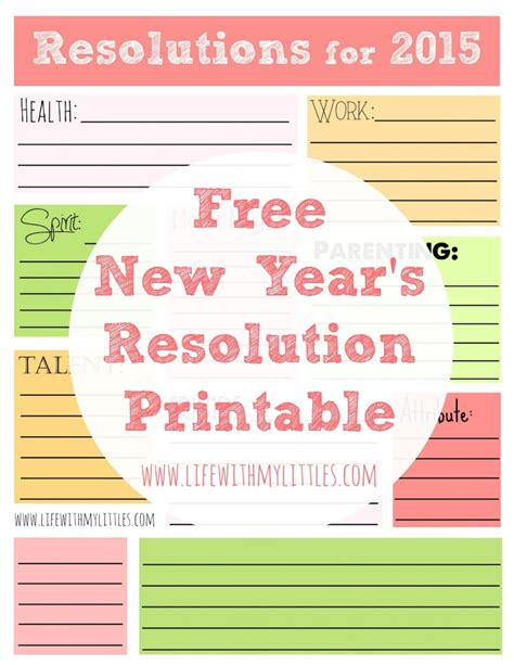 new year template printable free new year s resolution printable with my littles