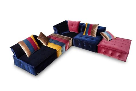 multi colored sofas chloe multi colored fabric sectional sofa hereo sofa