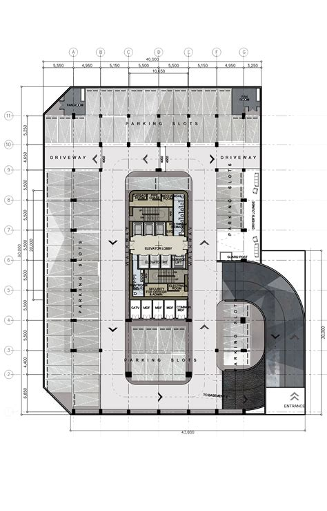 layout of building plan basement plan design 8 proposed corporate office