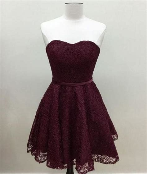 simple burgundy lace bridesmaid dress prom dess girlsprom prom dresses 100
