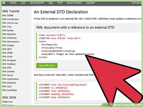 tutorial xml dtd how to create xml dtd with pictures wikihow