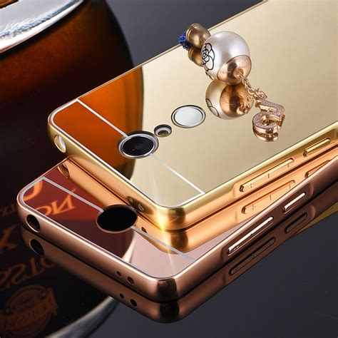 Xiaomi Redmi Note 2 Bumper Aluminium Metal Mirror Back aluminium bumper with mirror back cover for xiaomi redmi