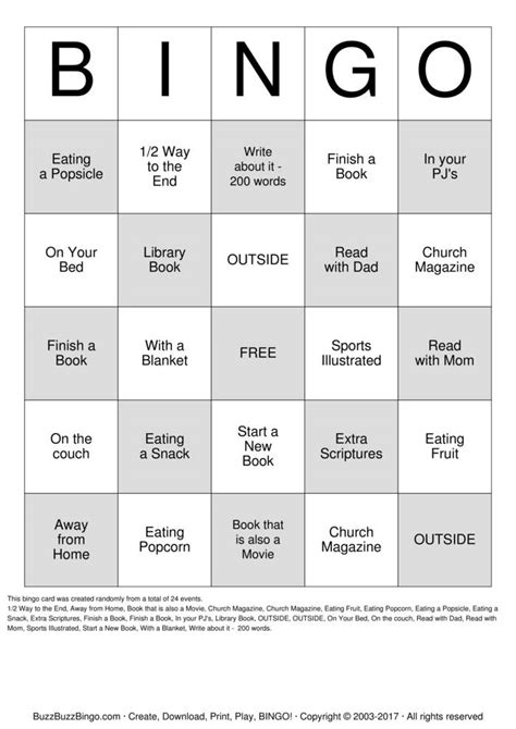 summer reading bingo bingo cards to download print and