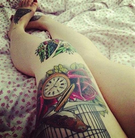 beautiful thigh tattoos beautiful thigh tattoos trusper