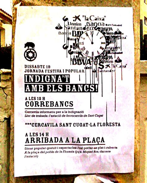 banco popular sant cugat ocupat un banc occupan otro banco banks occupied in