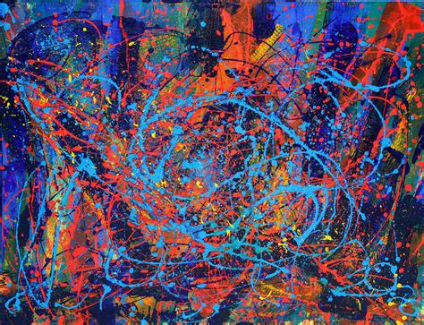 best abstract artist ruby mine particles painting by nestor toro