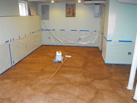 concrete floor coverings basement steps for easy painting basement floors homesfeed