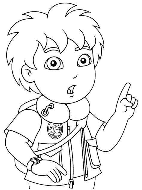 imagenes a blanco y negro para niños dibujos para colorear go diego para ni 241 os