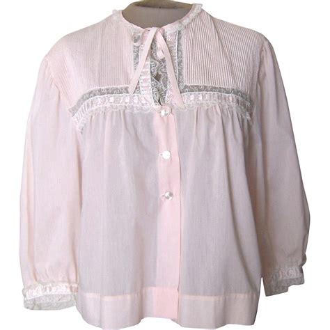 bed jacket vintage light pink lightweight bed jacket with lace from