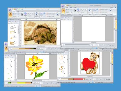 layout and editing brother can i open multiple embroidery files and edit them at the