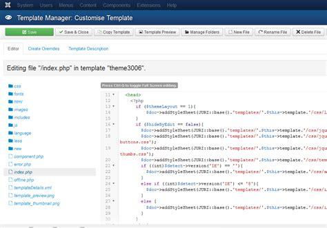 joomla template manager joomla 3 x wie man mit dem vorlagenmanager arbeitet