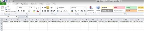 Import Users To Active Directory From A Csv File Active Directory Import Csv Template