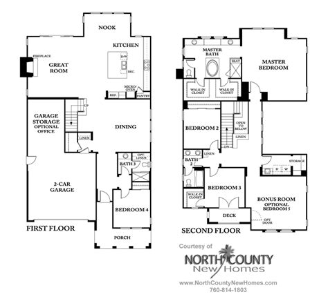 westcott at la costa oaks floor plan 4 county new
