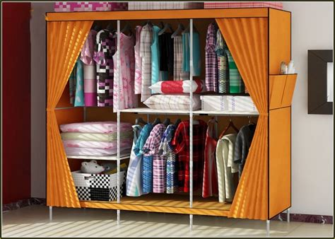 best home design ideas with portable orange fabric closet