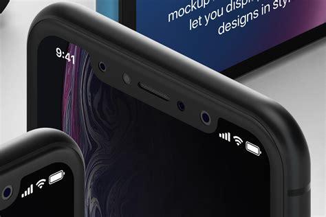 psd iphone xr mockup isometric vol psd mock