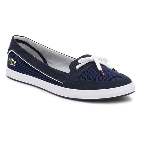 Lacoste Casual Navy lacoste womens boat shoes navy blue lancelle 117 1 caw