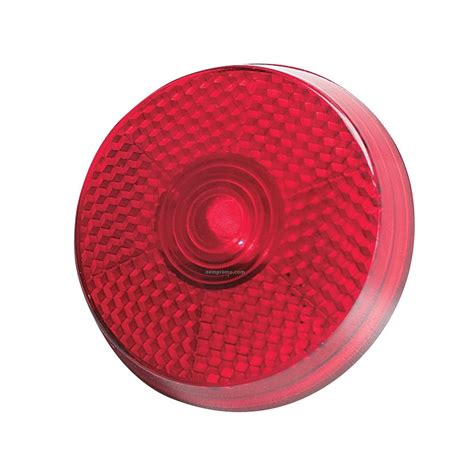 clip on reflector light red round light up reflector w black clip red led china