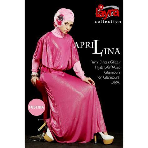 Amis Army Gamis Glitter Jersey layra aprillina fuschia baju muslim gamis modern