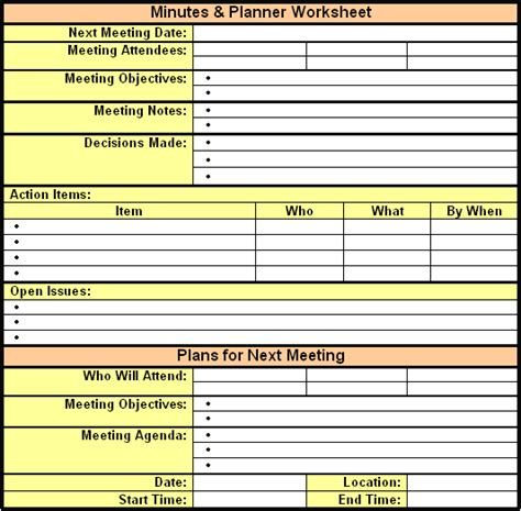 6 Meeting Minutes Templates Excel Pdf Formats Microsoft Meeting Minutes Template