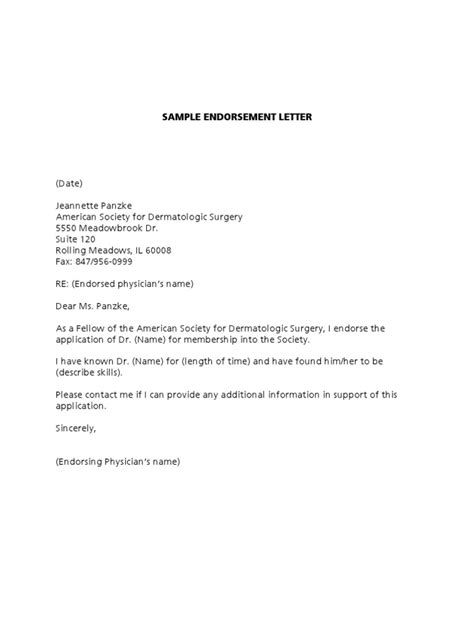 Endorsement Letter For Book Sle Endorsement Letter