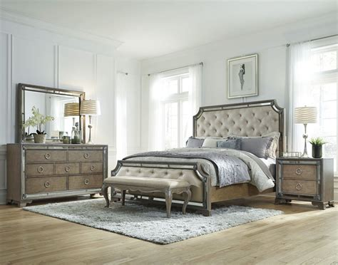 light wood bedroom set karissa light wood upholstered panel bedroom set from