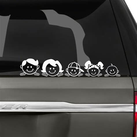 Aufkleber Auto Familie by Peeping Peekaboo Family Car Stickers The Decal Guru