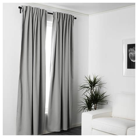 ikea textiles curtains majgull block out curtains 1 pair grey 145x250 cm ikea