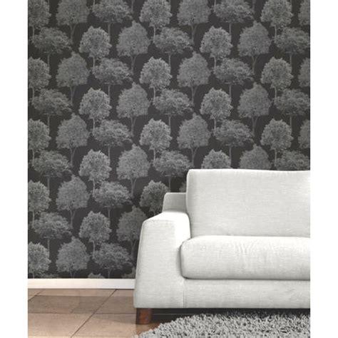 dekor tapete fein dekor waldland b 196 ume tapete schwarz silber grau