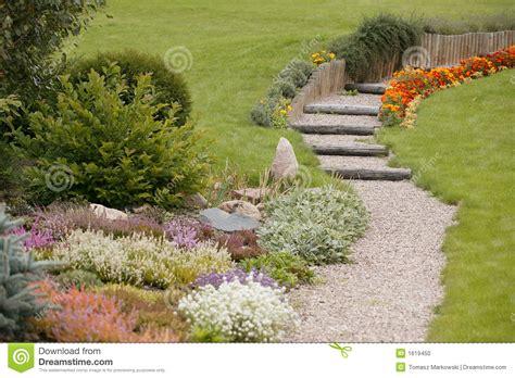 autumn garden autumn garden stock photo image of sidewalk plants