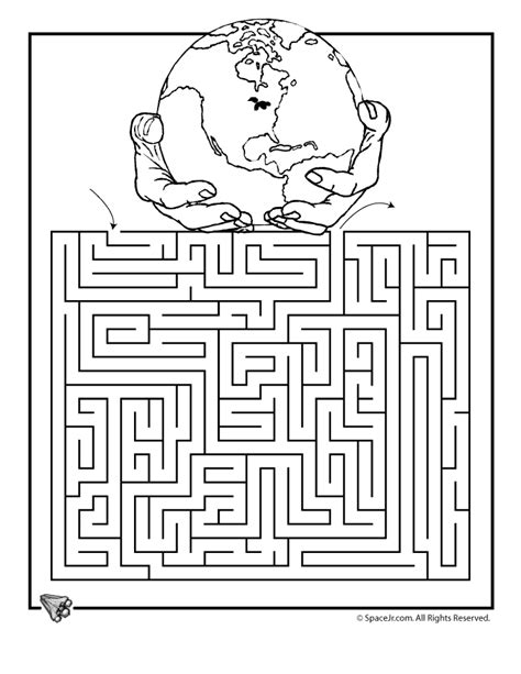 printable science maze earth day maze 3 woo jr kids activities