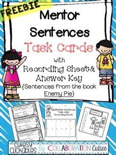libro enemy pie mentor sentences grammar word choice projects to try